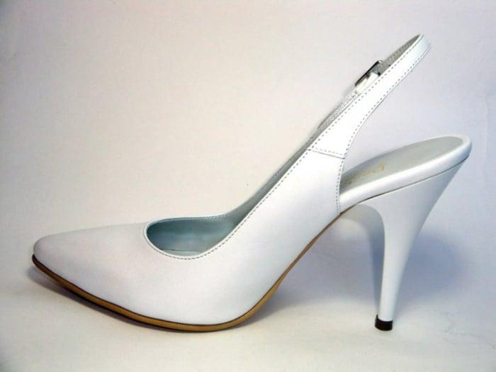 Pantofi Dama Piele Naturala Albi Reli D00340 [1]