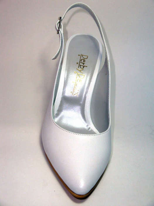 Pantofi Dama Piele Naturala Albi Reli D00340 7