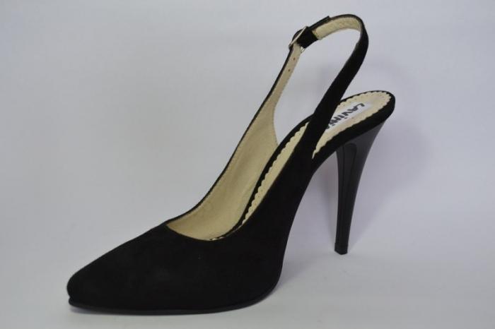 Pantofi Dama Piele Naturala Negri Melinda D00462 2