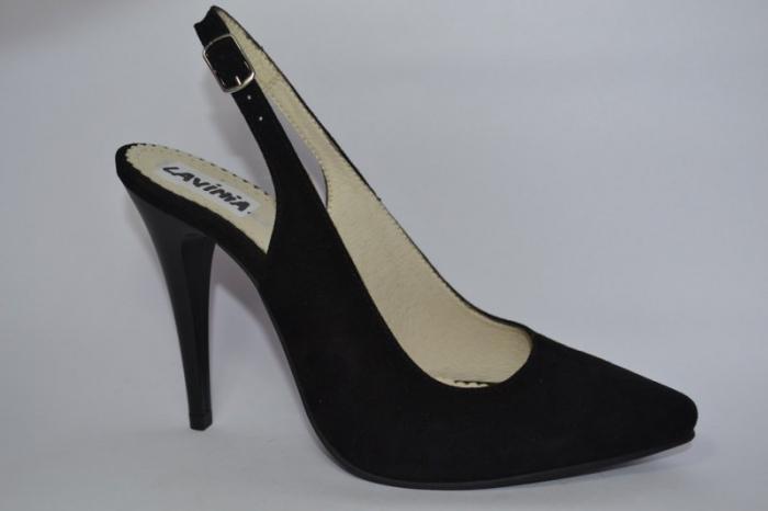 Pantofi Dama Piele Naturala Negri Melinda D00462 0