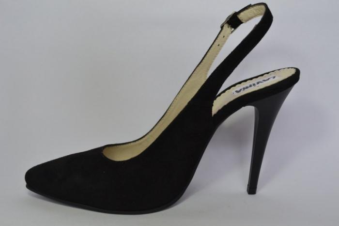 Pantofi Dama Piele Naturala Negri Melinda D00462 1