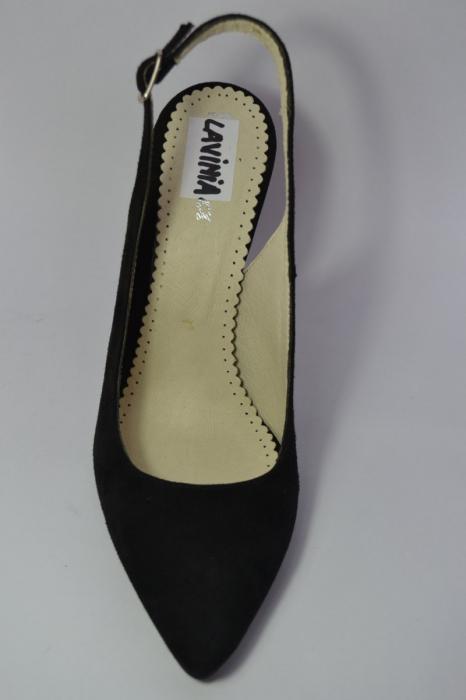 Pantofi Dama Piele Naturala Negri Melinda D00462 6