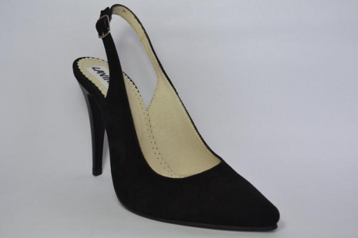 Pantofi Dama Piele Naturala Negri Melinda D00462 3