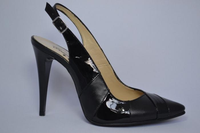 Pantofi Dama Piele Naturala Negri Lulu D00682 0