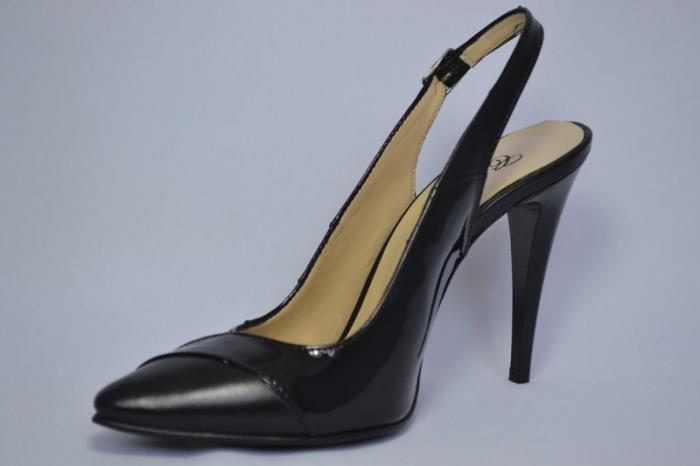 Pantofi Dama Piele Naturala Negri Lulu D00682 2