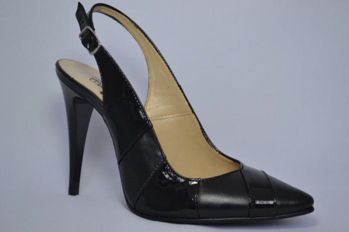 Pantofi Dama Piele Naturala Negri Lulu D00682 3