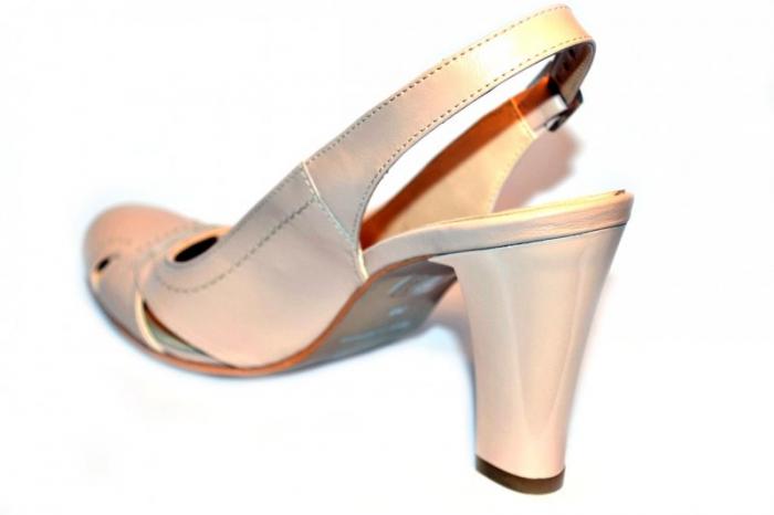 Pantofi Dama Piele Naturala Nude Vecky D00874 5