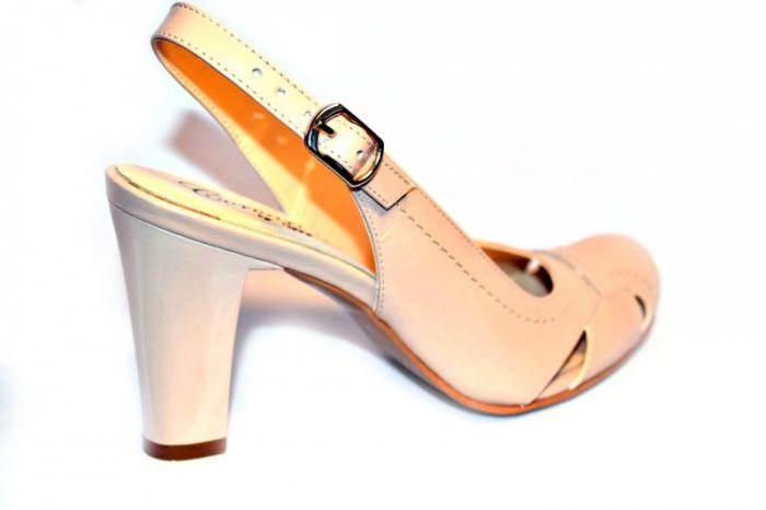 Pantofi Dama Piele Naturala Nude Vecky D00874 4
