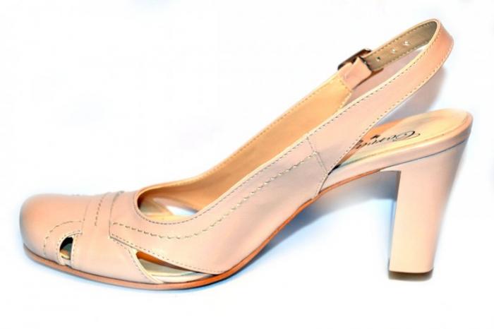 Pantofi Dama Piele Naturala Nude Vecky D00874 1