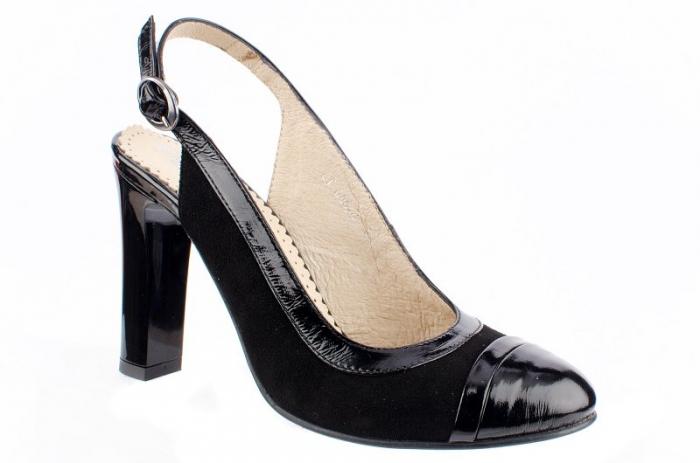 Pantofi Dama Piele Naturala Negri Mela D00038 0