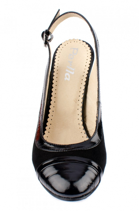 Pantofi Dama Piele Naturala Negri Mela D00038 2