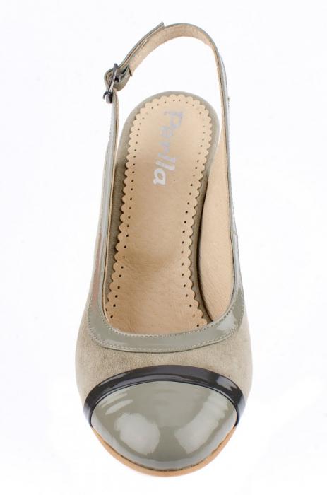 Pantofi Dama Piele Naturala Bej Vichi D00039 [3]