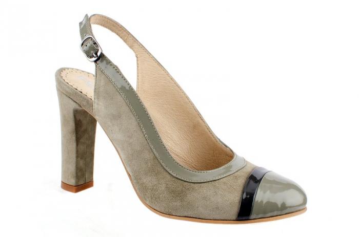 Pantofi Dama Piele Naturala Bej Vichi D00039 [0]