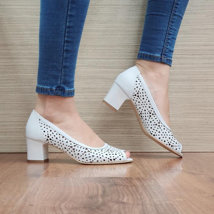 Pantofi Dama Piele naturala Albi Dona D02454 0