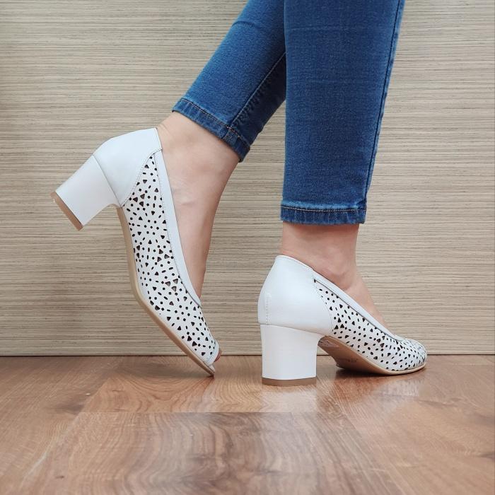 Pantofi Dama Piele naturala Albi Dona D02454 3