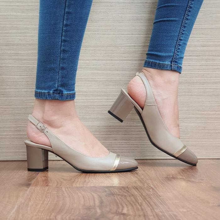 Pantofi Dama Piele Naturala Bej Kelsey D02382 [0]