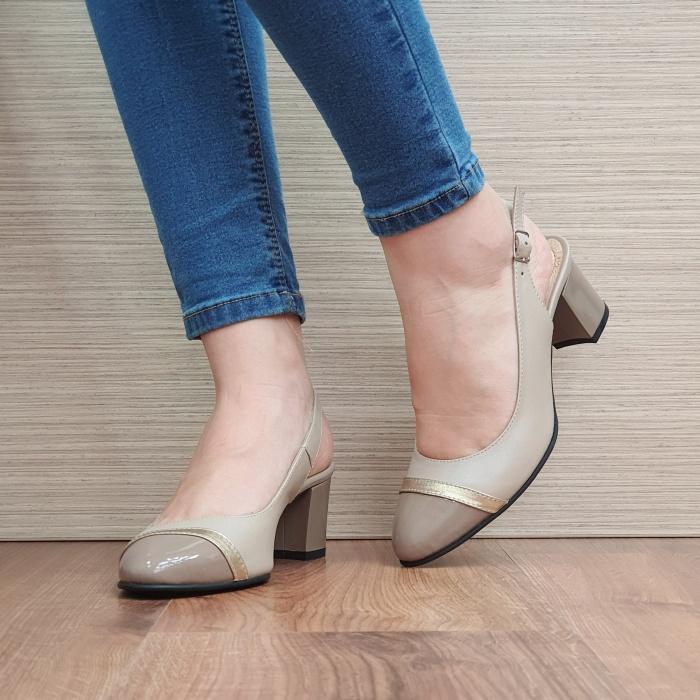 Pantofi Dama Piele Naturala Bej Kelsey D02382 [2]