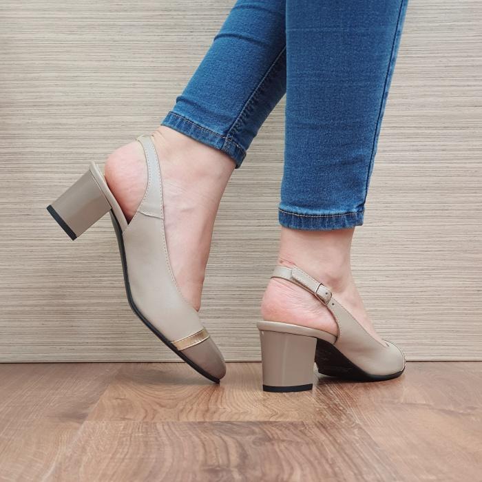Pantofi Dama Piele Naturala Bej Kelsey D02382 [3]
