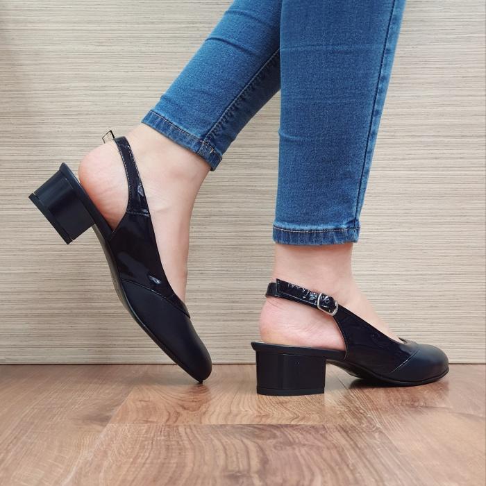 Pantofi Dama Piele Naturala Bleumarin Zarina D02390 3