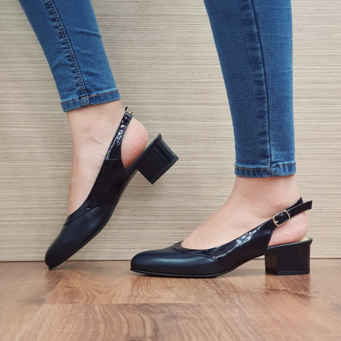 Pantofi Dama Piele Naturala Bleumarin Zarina D02390 1