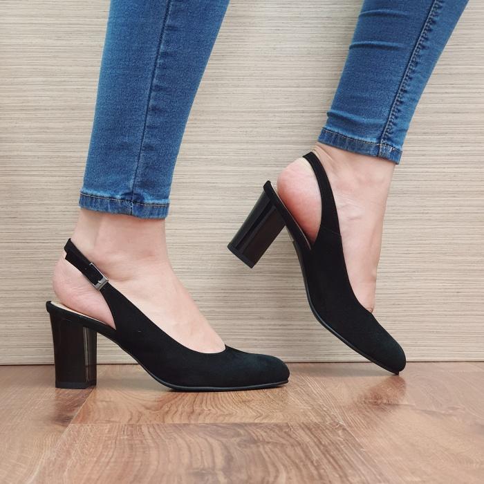 Pantofi Dama Piele Naturala Corvaris Negri Illy D02388 0
