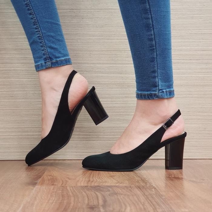 Pantofi Dama Piele Naturala Corvaris Negri Illy D02388 1