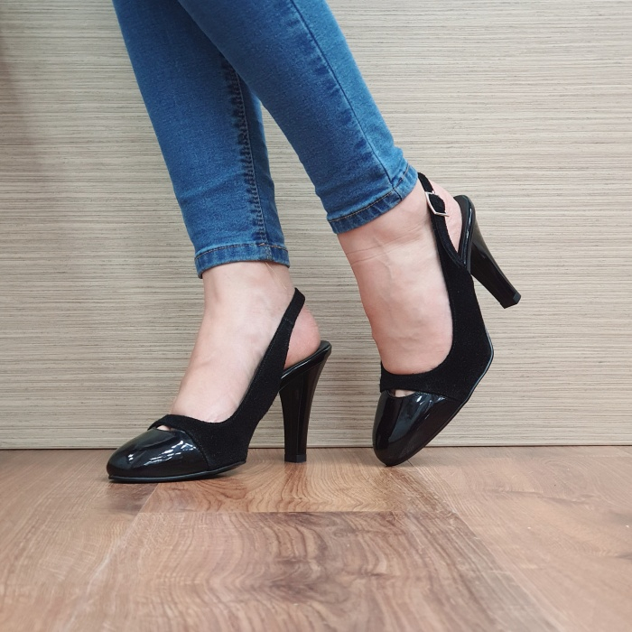 Pantofi Dama Piele Naturala Negri Agnes D02499 2