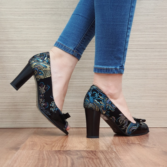 Pantofi Dama Piele Naturala Negri Annabella D02420 3