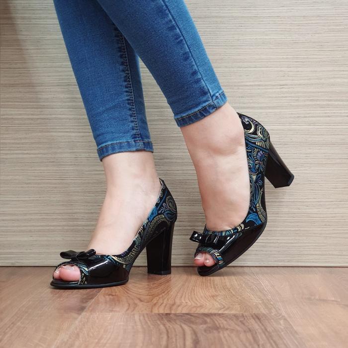 Pantofi Dama Piele Naturala Negri Annabella D02420 2