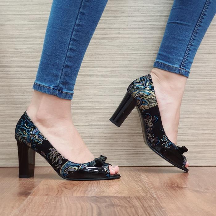 Pantofi Dama Piele Naturala Negri Annabella D02420 0