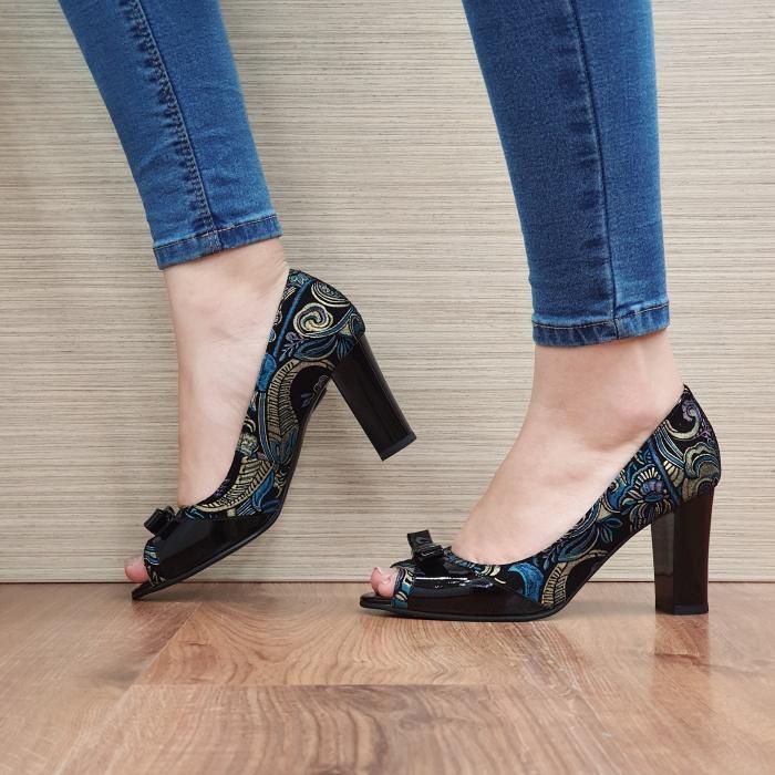 Pantofi Dama Piele Naturala Negri Annabella D02420 1