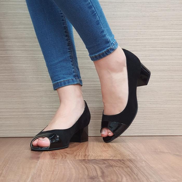 Pantofi Dama Piele Naturala Negri Ariela D02384 2