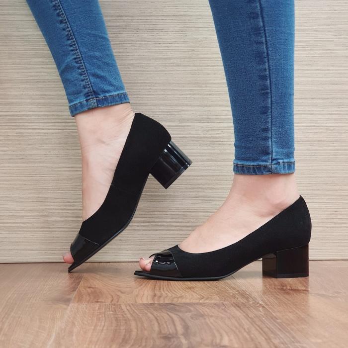 Pantofi Dama Piele Naturala Negri Ariela D02384 1