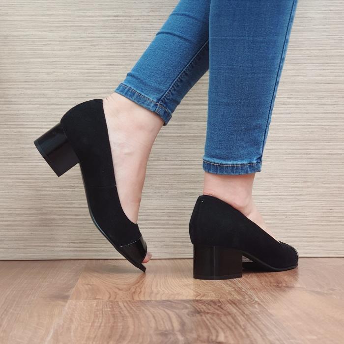 Pantofi Dama Piele Naturala Negri Ariela D02384 3