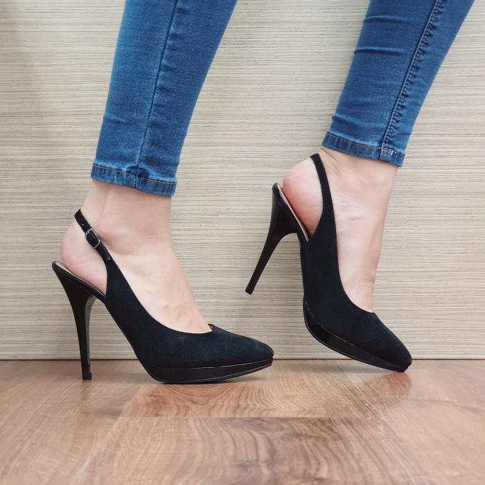 Pantofi Dama Piele Naturala Negri Iman D02394 0