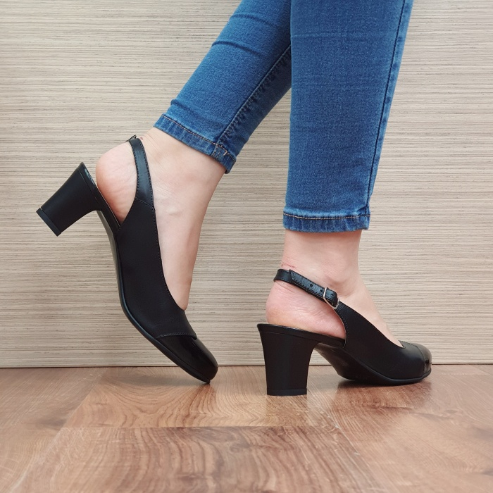 Pantofi Dama Piele Naturala Negri Sacha D02389 [3]