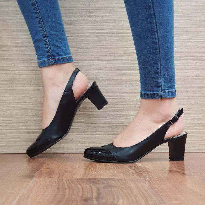 Pantofi Dama Piele Naturala Negri Sacha D02389 [1]