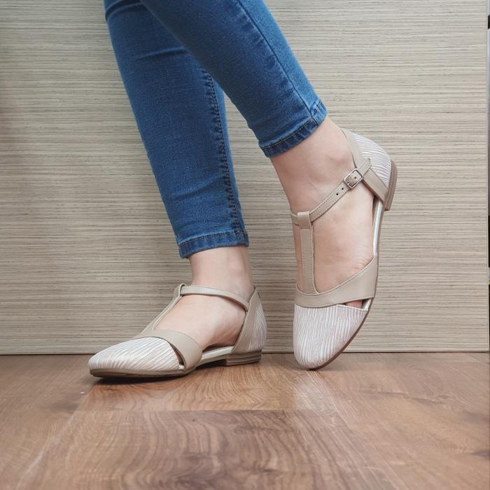 Pantofi Dama Piele Naturala Nude Irina D02458 2