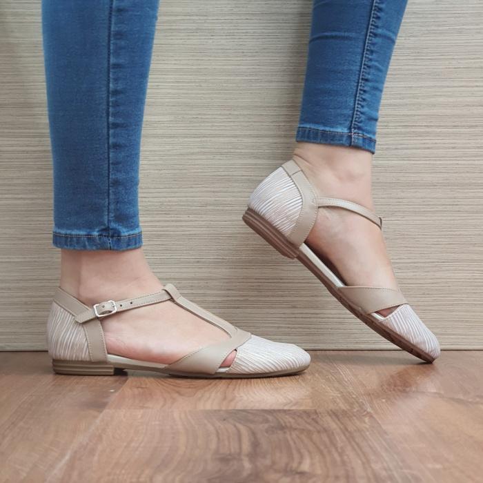 Pantofi Dama Piele Naturala Nude Irina D02458 0