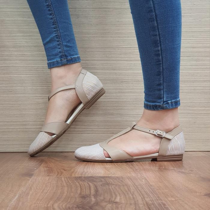 Pantofi Dama Piele Naturala Nude Irina D02458 1