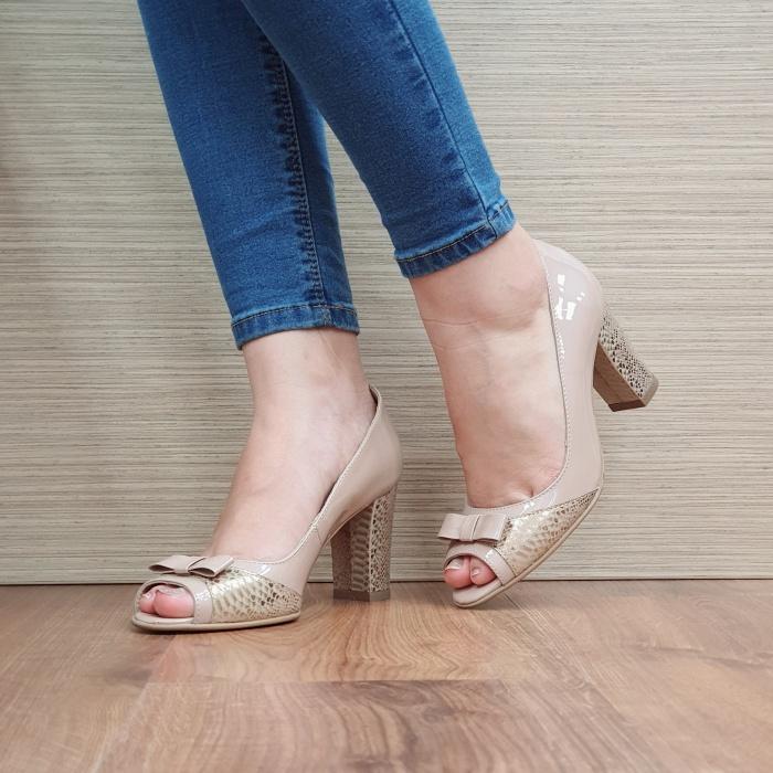 Pantofi Dama Piele Naturala Nude Roberta D02406 2