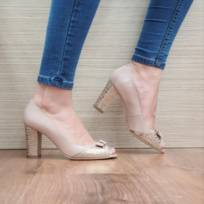 Pantofi Dama Piele Naturala Nude Roberta D02406 0
