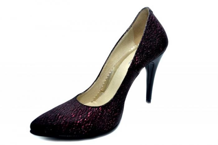 Pantofi cu toc Piele Naturala Grena Barbara D01274 2