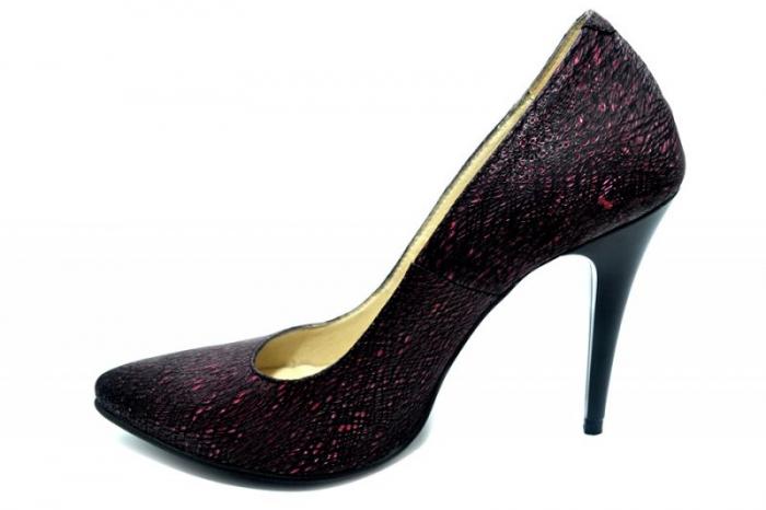 Pantofi cu toc Piele Naturala Grena Barbara D01274 1