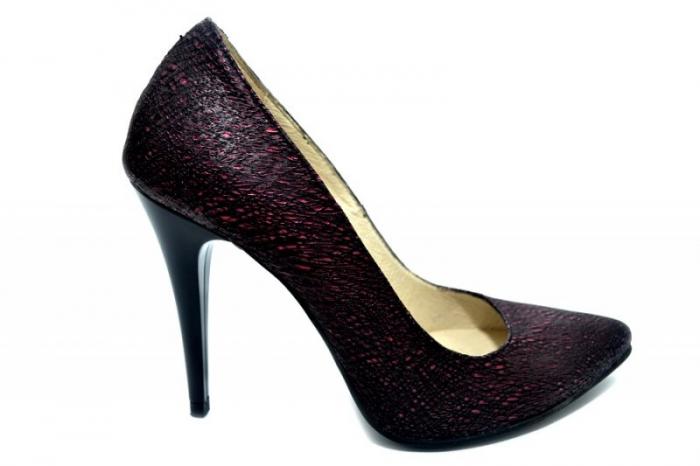 Pantofi cu toc Piele Naturala Grena Barbara D01274 0