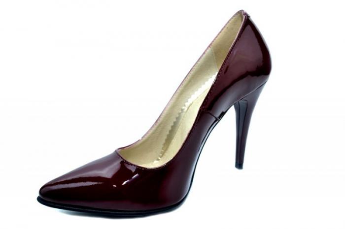 Pantofi cu toc Piele Naturala Grena Barbara D01308 2