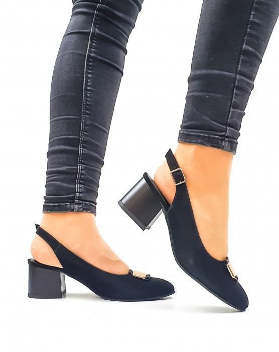 Pantofi Dama Piele Naturala Negri Moda Prosper Alfonsina D02635 2
