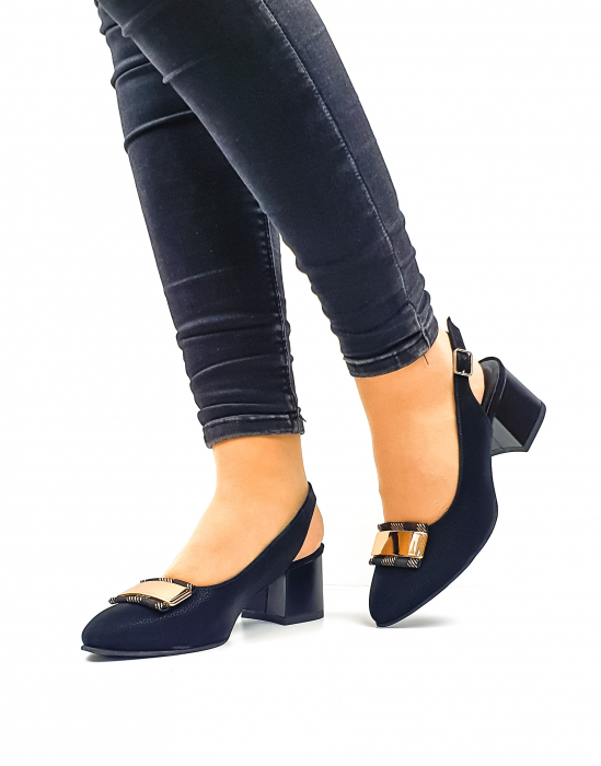 Pantofi Dama Piele Naturala Negri Moda Prosper Alfonsina D02635 0