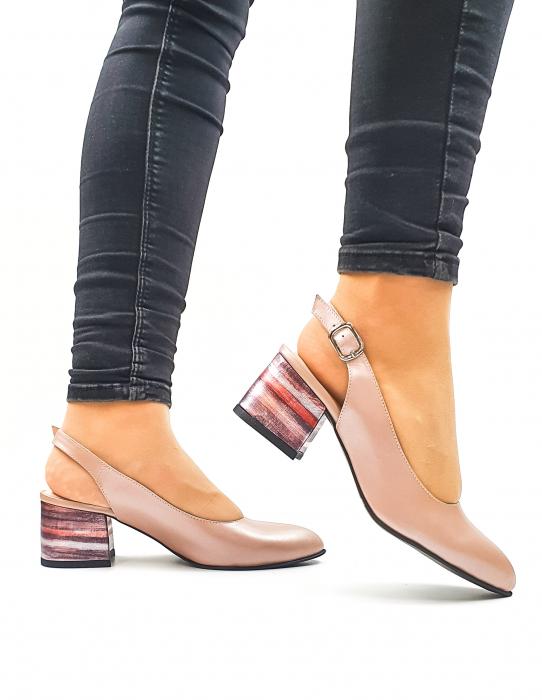 Pantofi Dama Piele Naturala Roz Moda Prosper Carmina D02636 1