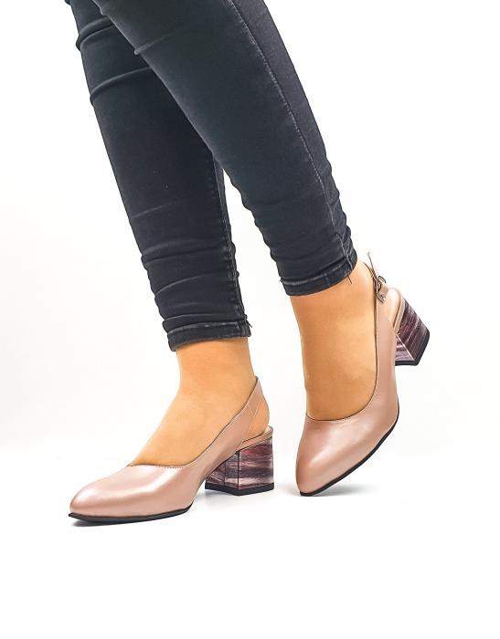 Pantofi Dama Piele Naturala Roz Moda Prosper Carmina D02636 2